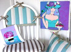 """Cosy Cushions - with """"Perennial"""" Fabrics - to use on Deck or Kitchen  By Mary Maki Rae"""