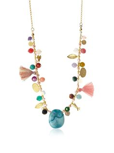 Jardin Drop Multi Semi-Precious and Agate Necklace at MYHABIT