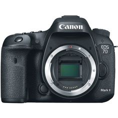 Designed with a penchant for speed the Canon EOS 7D Mark II DSLR Camera is characterized by its APS-C-sized 20.2MP CMOS sensor dual DIGIC 6 image processors and a top continuous shooting rate of 10...