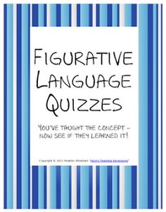FREE Figurative Language Printables   Looking for some figurative language assessments or review? Then these two free pages are for you!  Thanks for looking!  HoJo  3-5 6-8 figurative language free freebie HoJo metaphors Similes