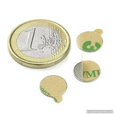 Schijfmagneet zelfklevend 10 x 0,6mm(Neodymium magneten) - supermagnete.nl