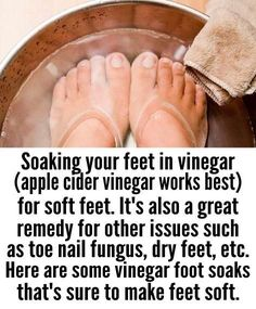 apple cider vinegar foot soak for soft feet