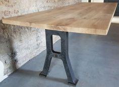 Industriële tafels met oude fabriek onderstellen | DT-69