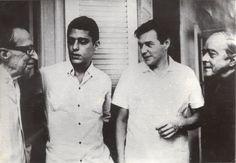 Chico Buarque, Manoel Bandeira, Vinicius de Moraes e Tom Jobim. Década de 60.