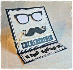 Dla brata Handmade Birthday Cards, Handmade Cards, Craft Cards, Diy Birthday Cards, Diy Cards, Homemade Birthday Cards, Homemade Cards, Card Making Inspiration, Handmade Crafts