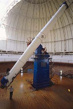 "Refracting telescopes: Use lenses (refraction); Important concepts are focal length and aperture; Largest one is 40"" Yerkes Observatory telescope (1897)."