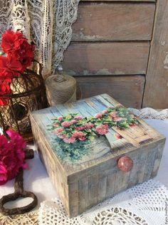 "Baskets, Boxes for handmade.  Fair Masters - handmade.  Buy ""Summer scenes"" Box-Box.  Handmade.  Tea Bag"
