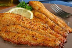Cajun Catfish. Tilapia, haddock or cod can be used too. Made this with tilapia the other day. Great source of protein and omega fatty acids. Add some scallops for extra deliciousness! Maybe red roasted potatoes and asparagus! Mmmm!!
