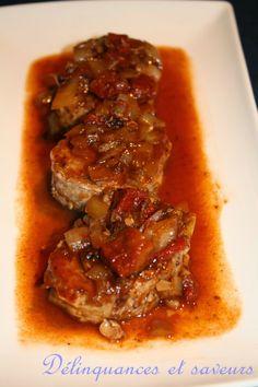 Médaillons de porc aux tomates séchées