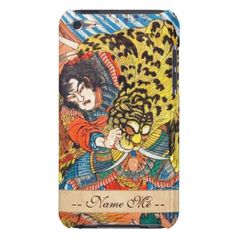 One of the 108 Heroes of the Popular Water Margin iPod Touch Case  #hero #fighting #tiger #customizable #japanese #japan #warrior #samurai #christmas #gift #vintage #accessories