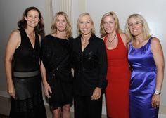 Hall of Fame tennis legends Pam Shriver, Stefie Graf, Martina Navratilova, Chris Evert & Tracy Austin