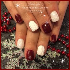 Cable knit sweater nails by Trai-Seas Escape Spa Beauty & Personal Care - Makeup - Nails - Nail Art - winter nails colors - http://amzn.to/2lojz72