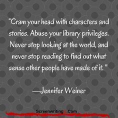Cram your head with characters and stories...