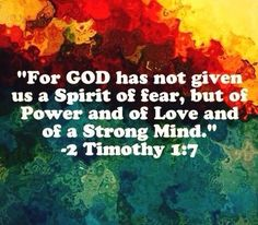 2 Timothy 1:7-that spirit is not from God