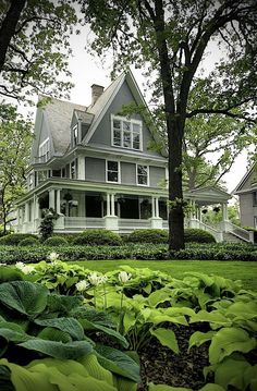 I love a house with a big wrap around porch.