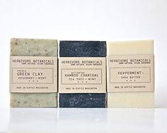 Man Soap Set Father's Day Gift 3 bar soap by HerbivoreBotanicals, $17.00