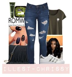 """""""Green Fillers😍👏"""" by illest-chrissy ❤ liked on Polyvore featuring SONOMA Goods for Life, adidas Originals, Origins and romwe"""