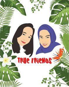 True friend vector art