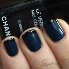 Navy with black tips