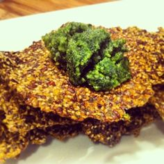 Flax and Chia Seed Crackers - when you need crunch in your diet!
