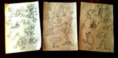Albores fragmentarios: Algunos de los primeros bocetos