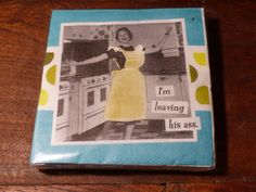 NOVELTY NAPKINS That say it ALL!!! by JusFunkinAround on Etsy