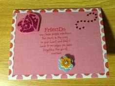 Handmade Valentine Card Friendship