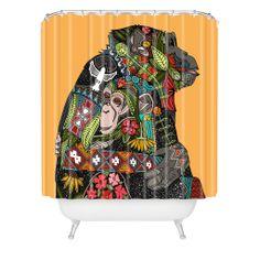 Sharon Turner Chimpanzee Love Shower Curtain | DENY Designs Home Accessories