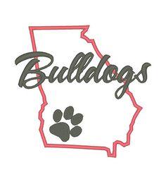 Designs :: Mascots :: Bulldogs State Applique