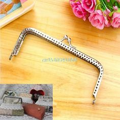 New Silver Handle Sewing Purse Handbag Coins Bags Metal Kiss Clasp Frame Findings 15cm #Y51# #Affiliate