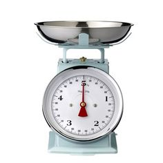 This eternal light Green kitchen scale is a reproduction of antique scales used by our grandparents. Light Green Kitchen, Aqua Kitchen, Kitchen Scales, Perfect Fit Blinds, Fitted Blinds, Brooklyn And Bailey, Ideas Hogar, Blinds For Windows, Vintage Coffee