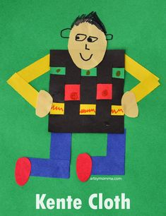 Learning About Ghana: Kente Cloth Craft for Kids