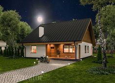 projekt domu C333b Miarodajny - wariant II - Murator projekty Home Fashion, Exterior Design, Sweet Home, Cottage, House Design, House Styles, Home Decor, Houses, Facebook