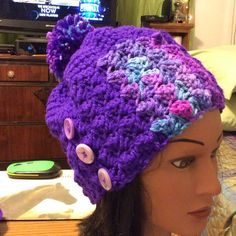 """Selling this """"Purple Crocheted Hat"""" in my Poshmark closet! My username is: stitchesforyou. #shopmycloset #poshmark #fashion #shopping #style #forsale #Accessories"""