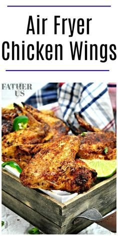 Check out this easy Air Fryer recipe for dry rub chicken wings. They are much more healthy than traditional wings fried in oil but still have that crispy skin I love. This dry rub recipe is great or you could try them in the Air Fryer with BBQ or Buffalo!