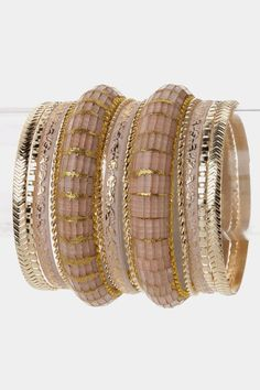 Perfect bangles... I love silver and gold together!!