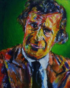"Portrait of Marc Chagall, Oil on Canvas 20x16"",  © Copyright 2011 Alan Derwin"