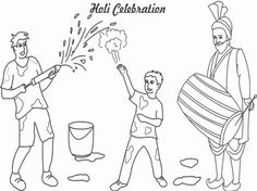 8 Best Holi Images Painting Pictures Pictures To Paint School
