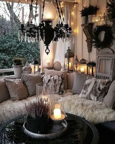 via heavywait - modern design architecture interior design home decor & Cozy Living Rooms, Living Room Decor, Bedroom Decor, Gazebos, Style At Home, Porch Posts, House With Porch, Cozy Corner, Outdoor Rooms