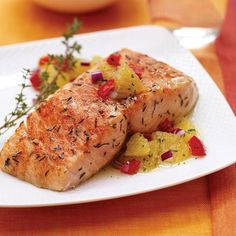Fresh oranges and ground ginger pair to make a bold and nutritious accompaniment to salmon fillets. Serve this delicious relish with any kind of fish,...