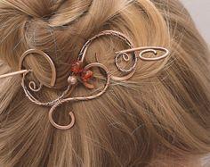 Pince à cheveux barrette à cheveux avec par CopperStreetStudios