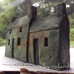 Sometimes my pieces look a bit spooky in their early stages... #clayhouse #ceramicart #littlehouses #clayrichard #spooky #rainyday #welshhouse #ffermdy