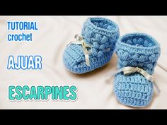 DIY Zapatitos Escarpines Punto Puff | Crochet AJUAR varón - YouTube