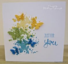 This would look cute with the butterflies flying out of a die cut bucket.