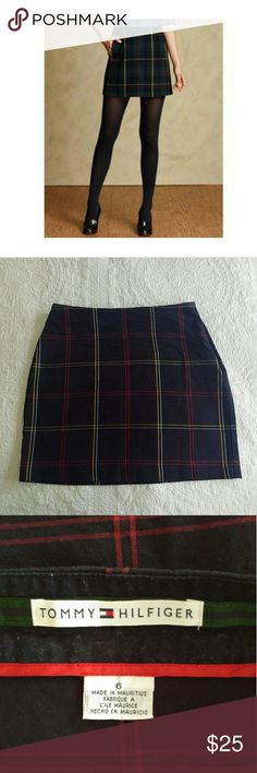 *TODAY ONLY!* Tommy Hilfiger | Plaid Skirt *Cover picture is a different version of the dame style* Beautiful skirt in great condition! Zipper is on the side. Navy blue background color with red, yellow, and lightblue stripes. Tommy Hilfiger Skirts