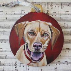 Custom Pet Portrait Christmas Ornament | Etsy Dachshund Art, Postcard Printing, Beagle Dog, Pet Portraits, Fur Babies, Original Artwork, Poster Prints, Christmas Ornaments, Pets