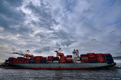 HDR Photo: Container ship