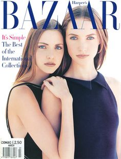 Nadja Auermann & Cecilia Chancellor  - Harper's Bazaar US March 1993 - Photographer: Patrick Demarchelier