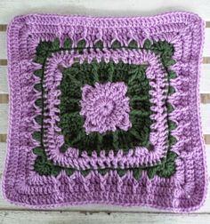 """Joyful Hope 12"""" Square Motif By Aurora Suominen - Free Crochet Pattern…"""