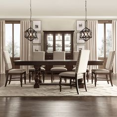 Best Dining Room Furniture Sets dining room furniture sets flatiron baluster extending dining set by inspire q classic VJKUIFW Dining Room Bar, Dining Room Lighting, Dining Room Design, Kitchen Dining, Dining Rooms, Beige Dining Room, Kitchen Decor, Kitchen Chairs, Design Furniture